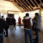 Students view the Art House space.